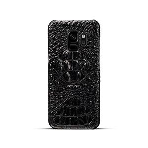 Черный чехол из кожи крокодила для Samsung Galaxy S9