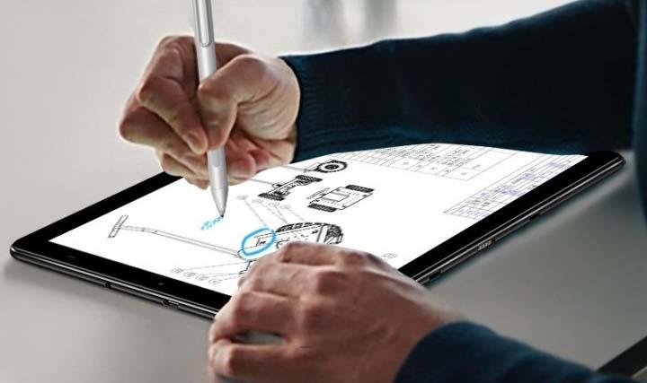Планшет Chuwi Hi9 Plus может работать с клавиатурой и стилусом