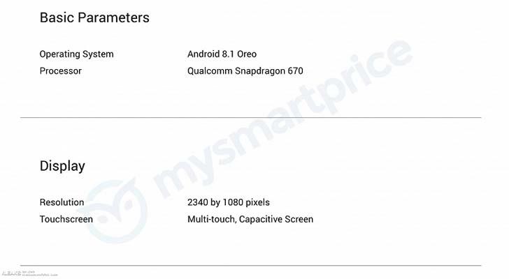 Oppo готовит еще один смартфон на платформе Snapdragon 670