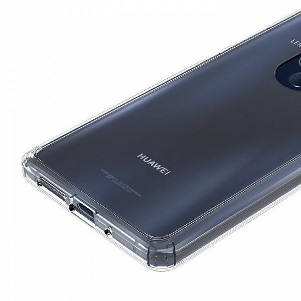 Huawei Mate 20 в прозрачном чехле позирует на очередных фото