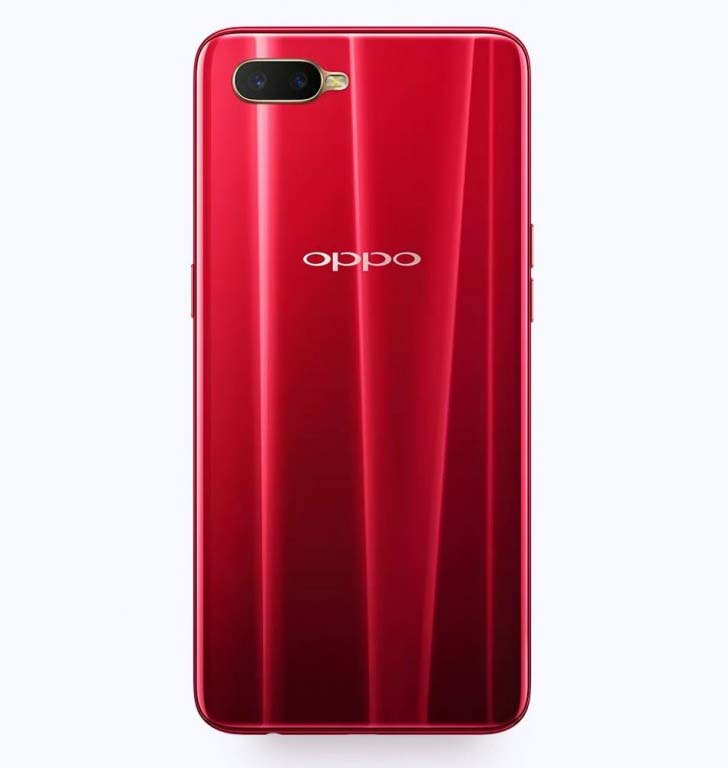 Представлен Oppo K1 с подэкранным сканером отпечатков пальцев