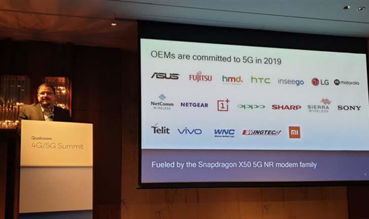 Названы компании, которые будут применять 5G-модем Snapdragon X50
