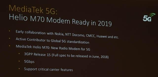 MediaTek напомнила о своем 5G-модеме Helio M70