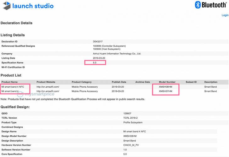 Xiaomi приступила к сертификации браслета Mi Band 4