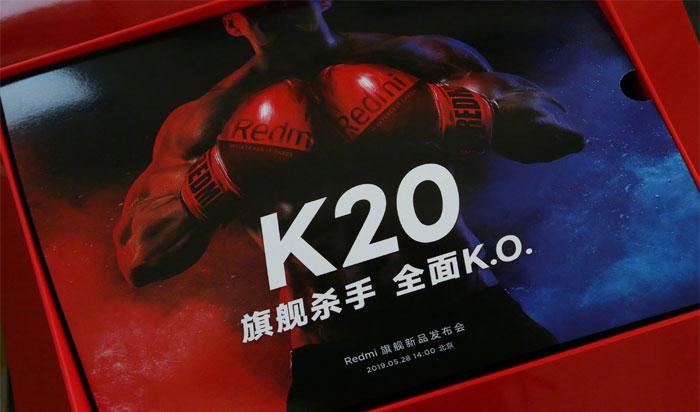 С приглашением на анонс Redmi K20 раздаются боксерские перчатки