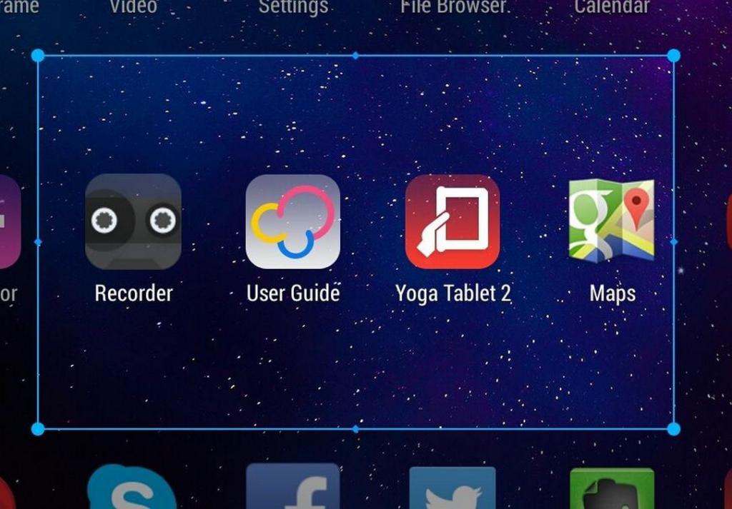 скрин на планшете с помощью жестов
