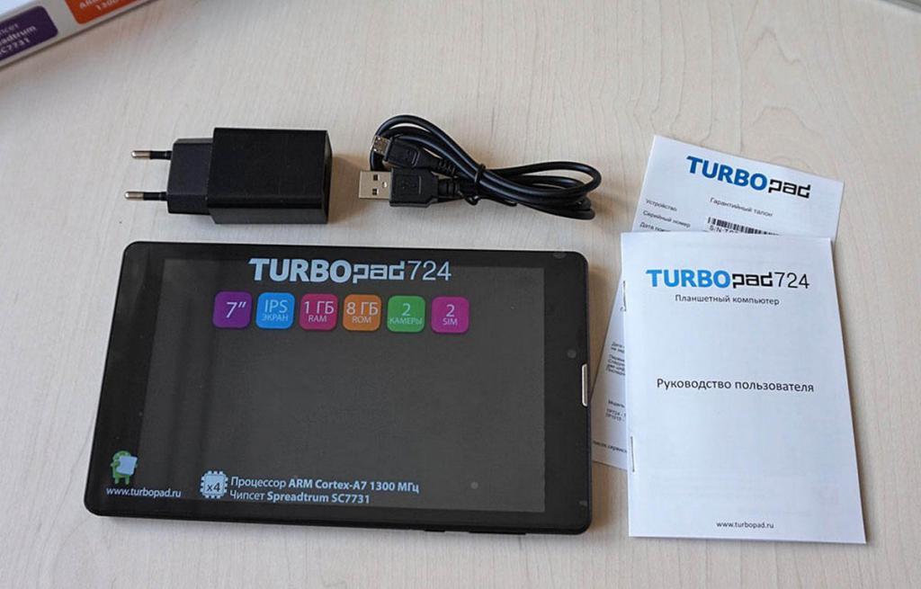 хороший планшет до 10 тысяч рублей TurboPad 724