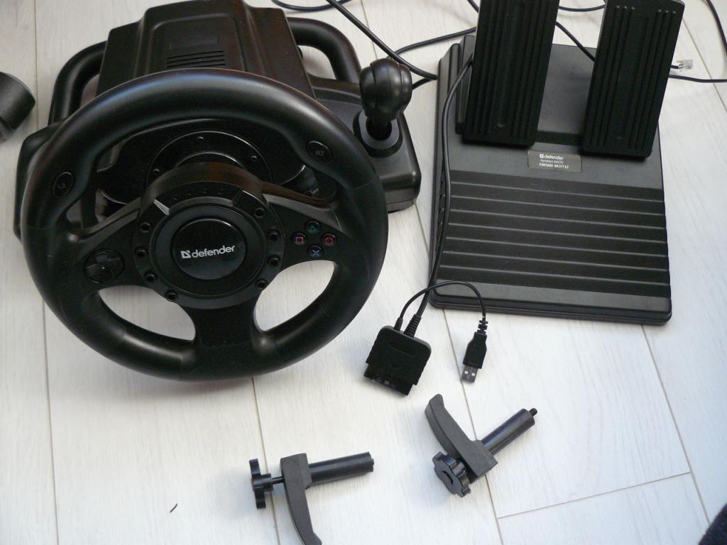 внешний вид руля Defender Forsage Drift GT