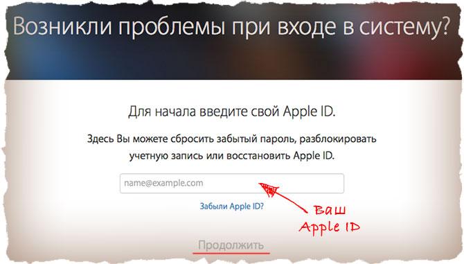 Проблемы с авторизацией в Apple ID