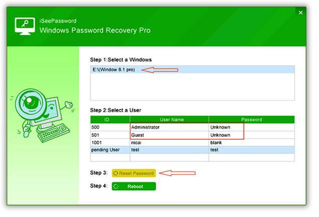 Удаления пароля iSeePassword