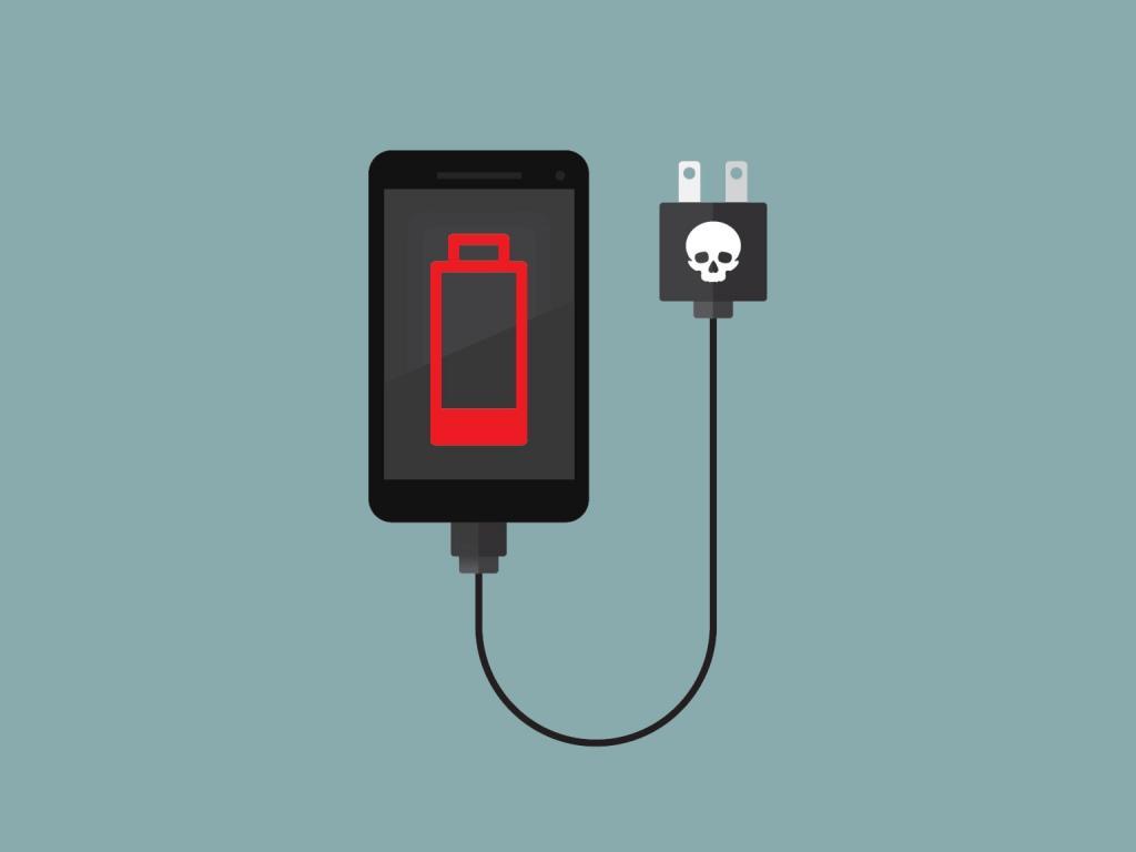 севшая батарея у Android смартфона