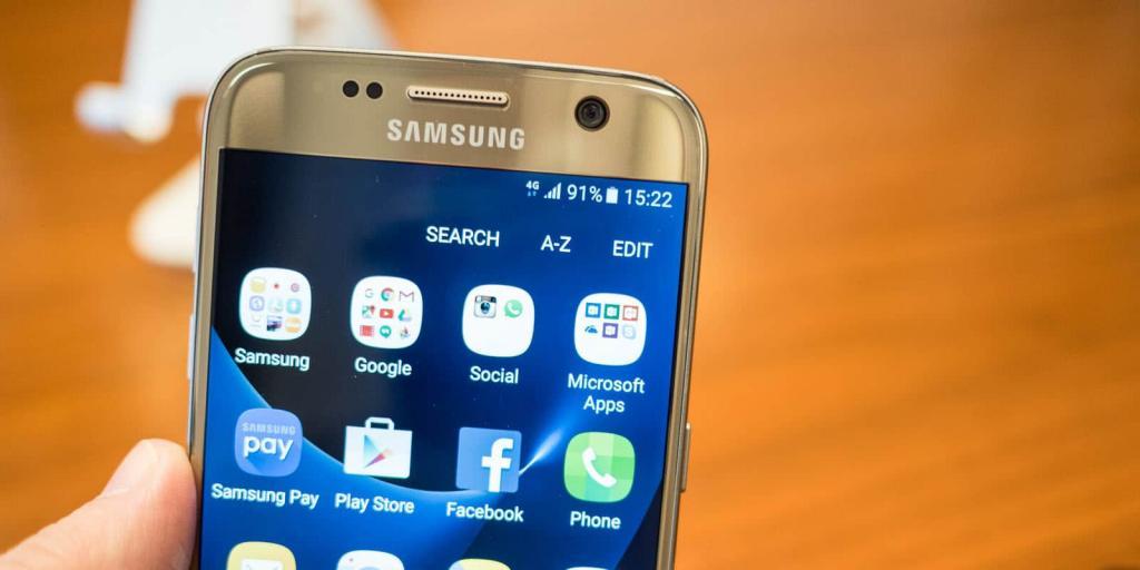 Приложения на Samsung Galaxy.