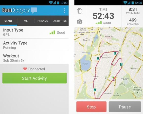 приложение Run Keeper
