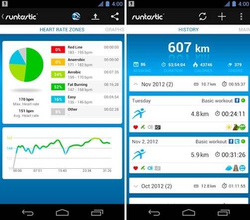 приложение для бега Runtastic