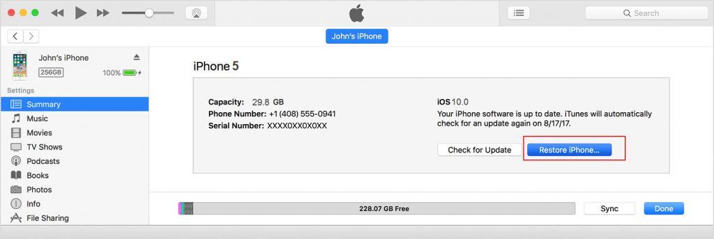 Использование iTunes